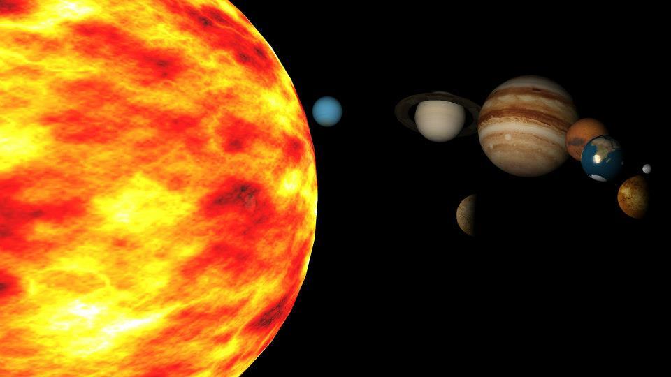 מערכת השמש בתוכנת מאיה