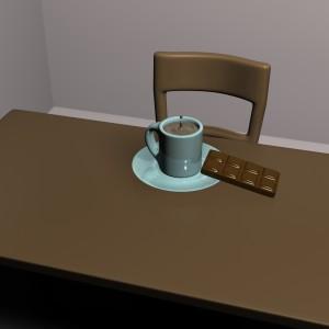 mug and chocolate